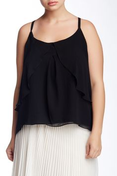 Flounce Front Camisole (Plus Size) by ABS by Allen Schwartz on @nordstrom_rack