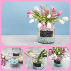 The perfect springtime center piece! #DIY