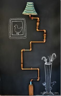 copper pipe is way too pretty for plumbing. DIY this stuff instead