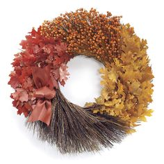 Rustic Leaves Wreath - At Expressions today! Refresh your décor with stylish home accents and yourself with fashionable clothing, accessories & Jewelry. Wreaths And Garlands, Door Wreaths, Fall Door, Faux Plants, Stylish Home Decor, Wreath Crafts, Home Decor Shops, Fall Crafts, Fall Halloween