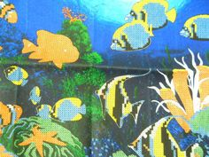 Underwater Mysteries Stamped Cross Stitch Kit James Himsworth Clown Fish Coral #CreativeAccents