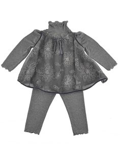 Glamorous ensemble from La stupenderia with glitter & lace, handmade in Italy