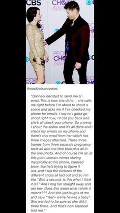 How Danneel told Jensen she was pregnant<<<AWWWWWWW