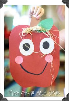 Adorable apple craft for fall or the beginning of school