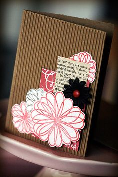 Hand made cards.....made from cardboard..