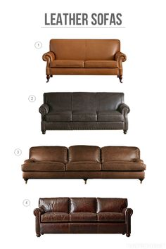 Leather Sofa Round Up - The Inspired Room