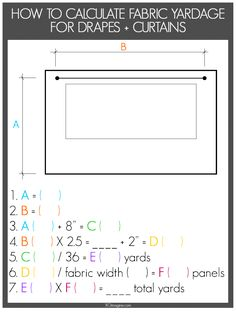 how to calculate fabric yardage for drapes and curtians