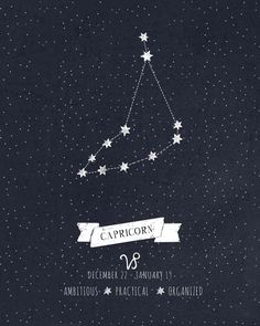 #capricorn #constellation #stars #zodiac