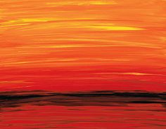 Abstract Painting Ruby S Red And Orange By Sharon Mings