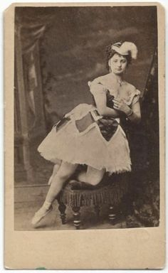 C1860s Ballerina Advertising on Back A Modern Wonder CDV   eBay