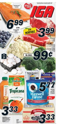 Circulaire IGA  Épicerie semaine du 5 au 11 octobre 2017 Jus D'orange, Frosted Flakes, Cereal, Breakfast, Food, Meal, Morning Coffee, Essen, Meals