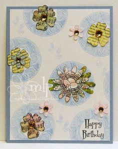 Prickley Pear Rubber Stamps - Flowers Clearly Beautiful Stamp Set, Spring Scalloped Circles Clearly Beautiful Stamp Set, Butterflies 2 Clearly Beautiful Stamp Set, Flowers Die