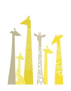 a little giraffe.