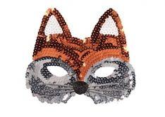 Maske Pailletten Fuchs