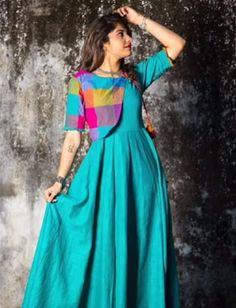 for this Tailer fit designer wear Salwar Designs, Kurti Neck Designs, Kurta Designs Women, Kurti Designs Party Wear, Short Kurti Designs, Long Dress Design, Dress Neck Designs, Designs For Dresses, Indian Gowns Dresses