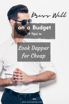 Dress well on a budget. If you're looking to save money but still dress well, this is for you. Here are 11 tips to look dapper for cheap. Saving For Retirement, Early Retirement, Retirement Planning, Investing In Stocks, Investing Money, Saving Tips, Saving Money, Looking Dapper, Budgeting Money