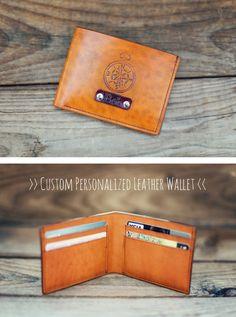 Leather Mens Wallet , Slim Bifold Wallet , Personalized Leather Wallet , Handmade Vintage Mens Wallet , Groomsmens Gift