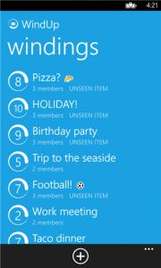 WindUp app by Microsoft is available for download