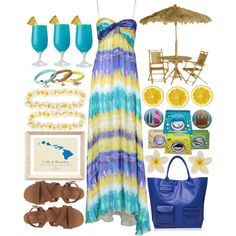 """""""#234"""" by casadiva on Polyvore ~ the perfect luau outfit!"""