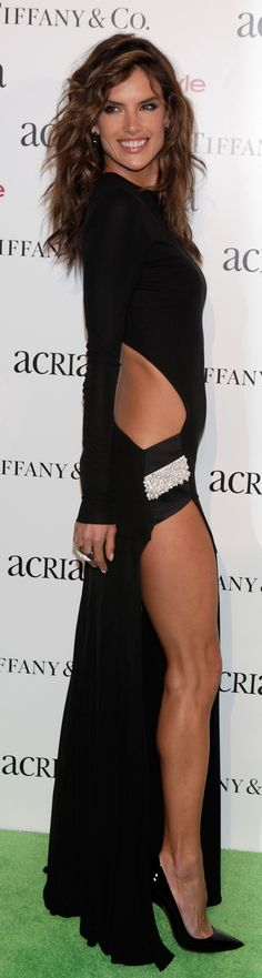 Apparently, Alessandra Ambrosio isn't done showing off her assets!