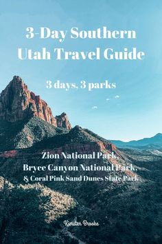 Zion National Park. Bryce Canyon National Park. Coral Pink Sand Dunes State Park. This southern Utah adventure was one of our favorite short trips that we've ever been on! We talk about our experiences during these short three days often. We even plan to go on another similar trip with my aunt this fall. There is enough jammed in this short 3-day travel guide to keep things exciting, AND we felt that we had plenty of time to experience the beauty of Utah's nature at each of these spots!