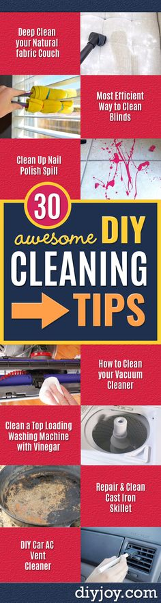Cleaning Tips and Tricks - Best Cleaning Hacks, Recipes and Tutorials - Daily Wa. ] Cleaning Tips Vent Cleaning, Cleaning Blinds, Household Cleaning Tips, Cleaning Recipes, House Cleaning Tips, Cleaning Hacks, Cleaning Supplies, Bedroom Cleaning, Bathtub Cleaning