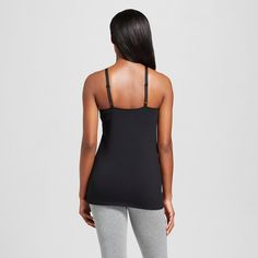 Women's Nursing Henley Cami Black, Size: Medium