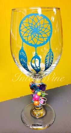Dream Catcher Wine Glass by IntertWinebyTyne on Etsy, $20.50