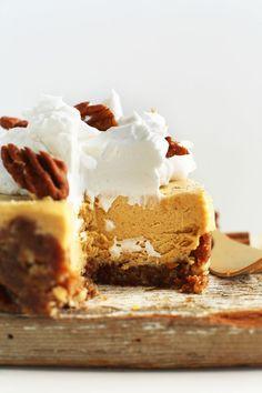 Creamy Vegan Pumpkin Cheesecakes (recipe) / by Minimalist Baker