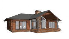 PR-1012 Дом в стиле шале| Проект одноэтажного дома по каркасной технологии, деревянный каркас Home Technology, Gazebo, Outdoor Structures, Cabin, House Styles, Home Decor, Fashion, Chalets, Moda