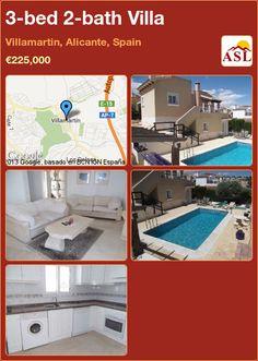 3-bed 2-bath Villa in Villamartin, Alicante, Spain ►€225,000 #PropertyForSaleInSpain