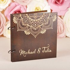 Personalized Wedding Guest book Wedding Unique Wooden Mandala Guest book Wood Personalized Guest book Wood Custom Rustic Guest book Mandala Every aspect of your big day is important and the memories are something that you want to keep for a long time. The wedding book of wishes is a