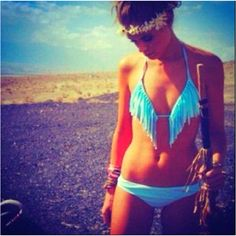 this #bikini is so cute! #bathingsuit #native #blue #summer