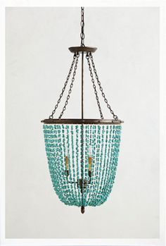 love this turquoise chandelier http://rstyle.me/n/mfft9r9te