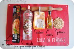Receta fácil - Coca de Vidre con piñones