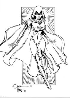 Free Online Printable Teen Titans Coloring Page ...