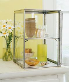 Love this cabinet, maybe for my kitchen?  It's a pie cabinet for restaurants, available at bowerkitchens.com.  Too bad I don't make many pies!