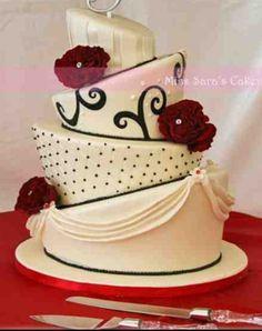 Cake....classy topsy turvy
