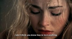 """""""I guess I shouldn't have expected you to know how to love,"""" The look on her face made Talish immediately regret those words. Lyra stood and turned away from him."""" She didn't stop and he knew he'd hurt her. (Freya Mavor as Mini McGuinness in Skins) Freya Mavor, Quotations, Qoutes, Movie Lines, Film Quotes, Quote Aesthetic, Mood Quotes, Decir No, Thoughts"""