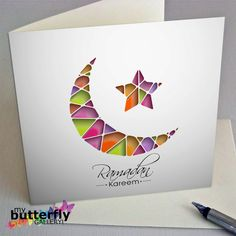 Printable Ramadan Kareem Card Digital door MyButterflyGallery