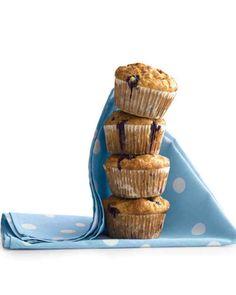 Breakfast Recipes: Banana-Blueberry Cornmeal Muffins