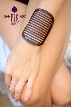 PRECIO CALIENTE! Pulseras de cuero de cuero pulsera brazalete, brazalete de cuero, damas, Brownr Chocolate n º 4