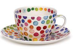 Dunoon - Fine Bone China Mugs : Hot Spots Breakfast Cup & Saucer