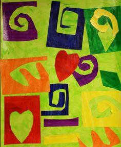 Nice Matisse lesson. Maybe for kindergarten era cutting skills!