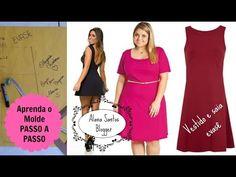 Molde de vestido e saia evasê Alana Santos Blogger - YouTube