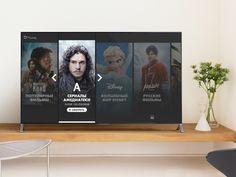 New product for Smart TV - Smart TV - Ideas of Smart TV - Okko. New product for Smart TV by Serega Mekrukov Tv 40, Web Design, Design Trends, Hbo Go, Tv Channels, Tv Episodes, Digital Signage, Ui Inspiration, Life Pictures