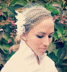 Trash To Couture: DIY birdcage veil Wedding Crafts, Diy Wedding, Dream Wedding, Wedding Ideas, Wedding Stuff, Wedding Veils, Spring Wedding, Trash To Couture, Fascinator Hats
