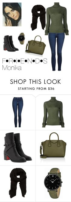 """""""FRIENDS Monika Geler outfit"""" by apolena-sediva ❤ liked on Polyvore featuring Topshop, MARIOS, Christian Louboutin, Givenchy, MANGO and CLUSE"""