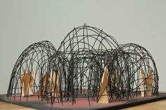 Antti Lovag, Maquette Pour une Structure de Rencontre et de Réflexion, wire model, c1968.