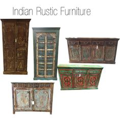 """Indian Rustic Furniture"" by mogulinteriordesigns on Polyvore"